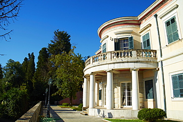 Achilleion Palace of Empress Elisabeth of Austria well known as Sissi, Corfu, Ionian Islands, Greek Islands, Greece, Europe