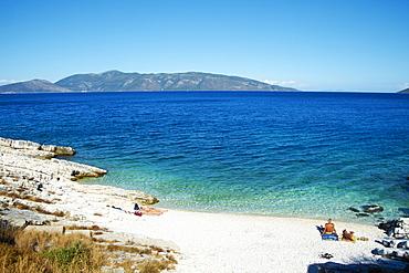 Antisamos beach, Cephalonia, Ionian Islands, Greek Islands, Greece, Europe