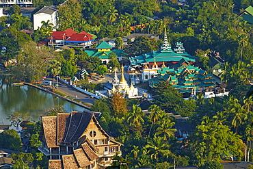 Wat Chong Klang on the Nong Chong Kham, Mae Hong Son, Thailand, Southeast Asia, Asia