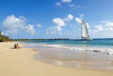Sainte Anne beach, Martinique, French Overseas Department, Windward Islands, West Indies, Caribbean, Central America