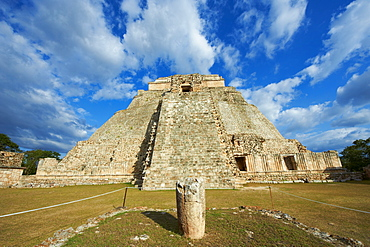 Pyramid of the Magician, Mayan archaeological site, Uxmal, UNESCO World Heritage Site, Yucatan State, Mexico, North America