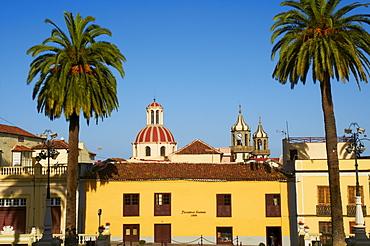 Church and town, La Orotava, Tenerife, Canary Islands, Spain, Europe