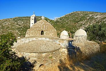 Panagia Drossiani, Byzantine style church, Moni, Naxos, Cyclades Islands, Greek Islands, Greece, Europe