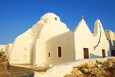 Paraportiani church, The Chora (Hora), Mykonos, Cyclades Islands, Greek Islands, Aegean Sea, Greece, Europe