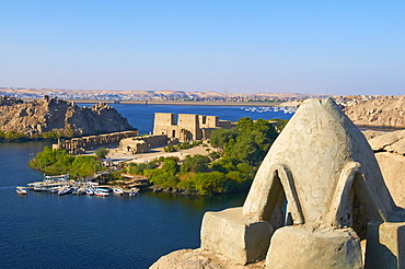 Temple of Philae, UNESCO World Heritage Site, Agilkia Island, Nile Valley, Nubia, Egypt, North Africa, Africa