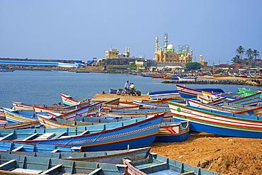 Vizhinjam, fishing harbour near Kovalam, Kerala, India, Asia