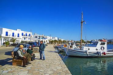 Harbour, Kastro, Antiparos, Paros, Cyclades, Aegean, Greek Islands, Greece, Europe
