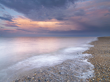 Stunning evening colours at the North Beach, Great Yarmouth, Norfolk, England, United Kingdom, Europe