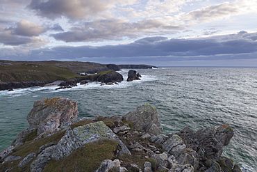 A September evening on the cliffs at Mangersta, Isle of Lewis, Outer Hebrides, Scotland, United Kingdom, Europe
