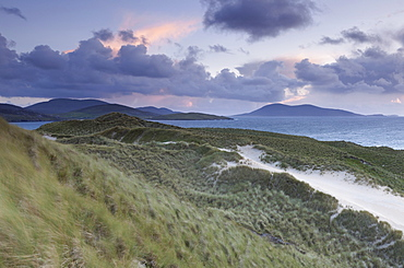 The North coast viewed from the dunes at Luskentyre, Isle of Harris, Outer Hebrides, Scotland, United Kingdom, Europe