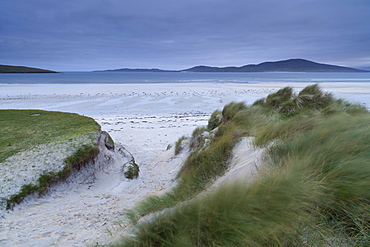 A moody and windy morning at Seleibost beach, Isle of Harris, Outer Hebrides, Scotland, United Kingdom, Europe