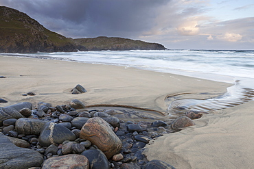 The dramatic beach at Dal Mhor, Isle of Lewis, Outer Hebrides, Scotland, United Kingdom, Europe
