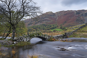 Autumn view of the Little Langdale Valley, Lake District National Park, Cumbria, England, United Kingdom, Europe