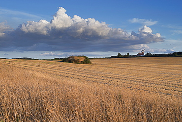 Beautiful summer evening light in this view from Weybourne, North Norfolk, England, United Kingdom, Europe
