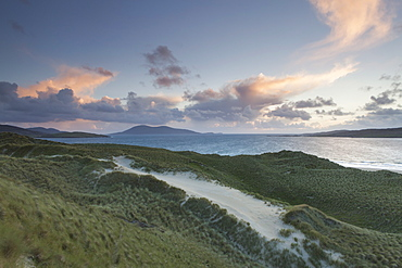 The stunning dunes and beach at Luskentyre, Isle of Harris, Outer Hebrides, Scotland, United Kingdom, Europe