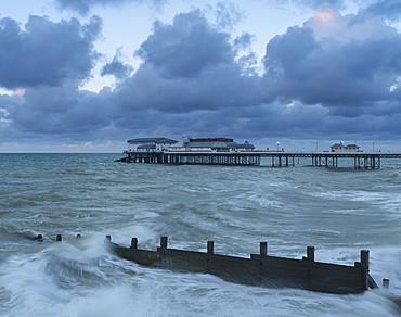 A view of Cromer Pier, Norfolk, England, United Kingdom, Europe