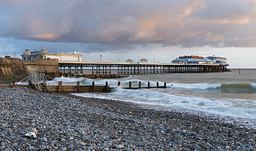 A beautiful sky on a spring morning at Cromer, Norfolk, England, United Kingdom, Europe