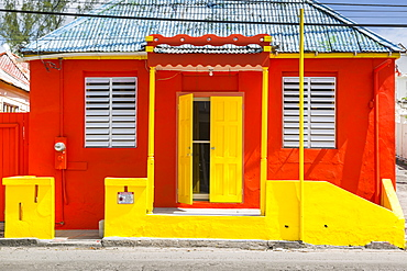Colourful house on Bay Street, Bridgetown, St. Michael, Barbados, West Indies, Caribbean, Central America