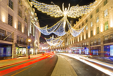 Christmas Lights on Regent Street, Westminster, London, England, United Kingdom, Europe
