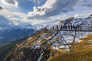 View from Grindelwald First, Jungfrau region, Bernese Oberland, Swiss Alps, Switzerland, Europe