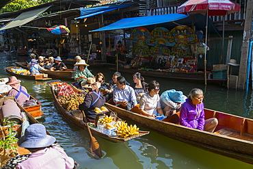 Damnoen Saduak Floating Markets, Bangkok, Thailand, Southeast Asia, Asia