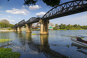 Death Railway Bridge, Bridge over River Kwai, Kanchanaburi, Thailand, Southeast Asia, Asia