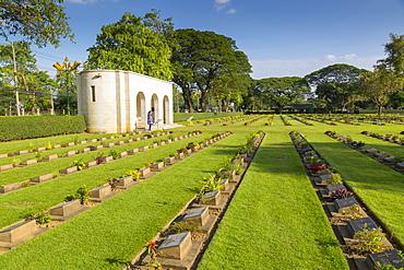 Kanchanaburi War Cemetery, Bangkok, Thailand, Southeast Asia, Asia