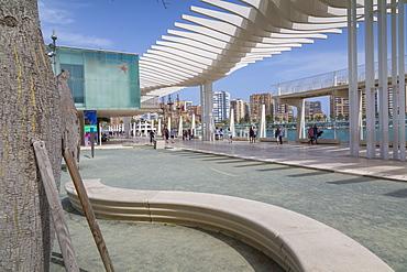 View of Sea Museum Alborania, Malaga, Costa del Sol, Andalusia, Spain, Europe