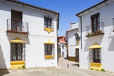 Traditional Spanish whitewashed houses near Plaza Duquesa de Parcent, Ronda, Andalusia, Spain, Europe