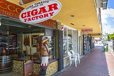 Cigar shop on 8th Street in Little Havana, Miami, Florida, United States of America, North America