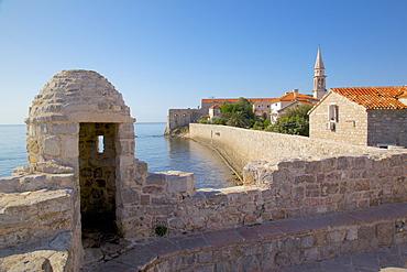 Budva Old Town Wall, Budva Bay, Montenegro, Europe