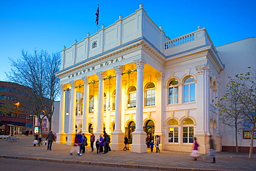 The Theatre Royal at Christmas, Nottingham, Nottinghamshire, England, United Kingdom, Europe