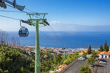 View of Funchal from Cable Car Station, Funchal, Madeira, Portugal, Atlantic, Europe