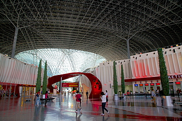 Entrance, Ferrari World, Yas Island, Abu Dhabi, United Arab Emirates, Middle East
