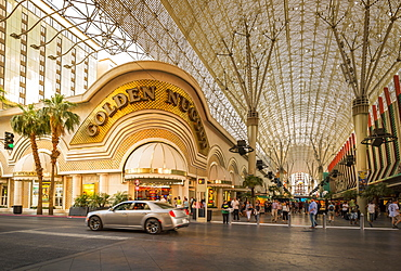 The Golden Nugget in the Fremont Street Experience, Downtown, Las Vegas, Nevada, United States of America, North America