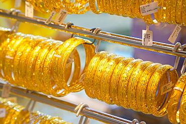 Gold jewellery, Gold Souk, Abu Dhabi, United Arab Emirates, Middle East