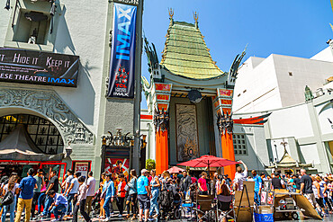 View of Grauman's Chinese Theatre on Hollywood Boulevard, Hollywood, Los Angeles, California, United States of America, North America