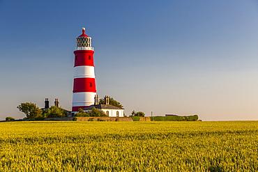 View of Happisburgh Lighthouse, Happisburgh, Norfolk, England, United Kingdom, Europe