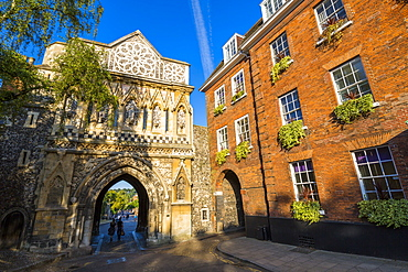 Exterior view of The Ethelbert Gate, Norfolk, England, United Kingdom, Europe