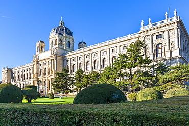 View of Museum of Natural History Vienna in Maria-Theresien-Platz, Vienna, Austria, Europe