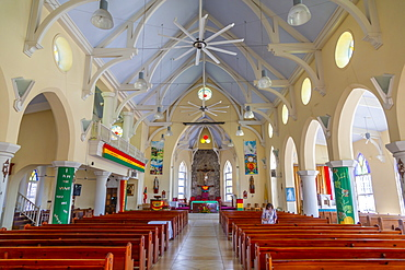 Interior of Cathedral of the Immaculate Conception, St. George's, Grenada, Windward Islands, West Indies, Caribbean, Central America