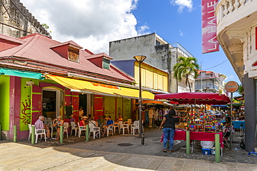 View of Spice Market Square, Pointe-a-Pitre, Guadeloupe, French Antilles, West Indies, Caribbean, Central America