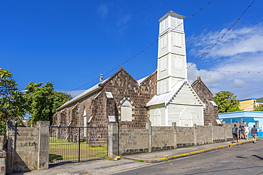 View of Wesley Methodist Church, Basseterre, St. Kitts and Nevis, West Indies, Caribbean, Central America