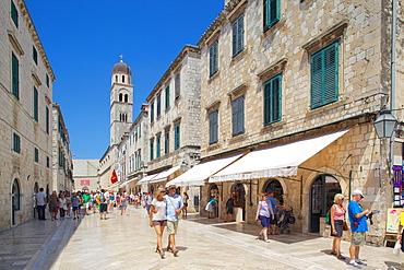 Stradun and St. Saviour's Church, Dubrovnik, Dalmatia, Croaita, Europe