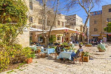 Holly Cafe near Hurva Synagogue in Old City, Old City, UNESCO World Heritage Site, Jerusalem, Israel, Middle East