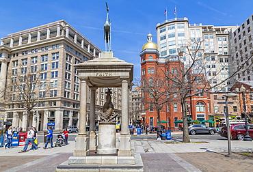 View of John Marshall Park on Pennsylvania Avenue, Washington D.C., United States of America, North America