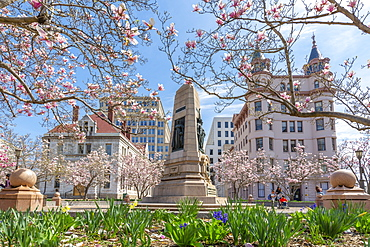 View of John Marshall Park on Pennsylvania Avenue, Washington D.C., United States of America, North America