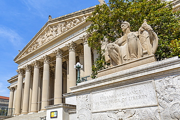 View of National Gallery of Art on Pennsylvania Avenue, Washington D.C., United States of America, North America