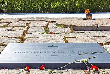 View of President John F. Kennedy Gravesite in Arlington National Cemetery, Washington D.C., United States of America, North America