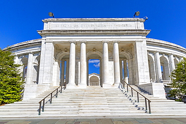View of Memorial Amphitheatre in Arlington National Cemetery, Washington D.C., United States of America, North America